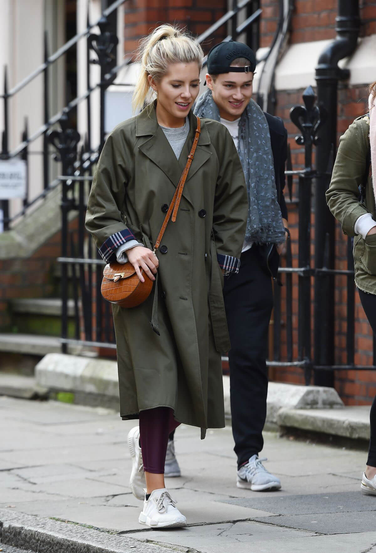 Mollie King and AJ Pritchard Stills Out for Lunch in London