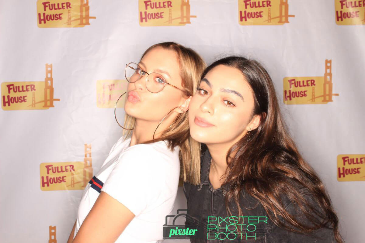 Natasha Bure and Candace Cameron Bure in Fuller House Season 3 Wrap Party Photo Booth, September 2017