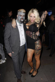 Nevaeh Heaven and King Of Ink Land King Body Art The Extreme Ink Stills at Paul Raymond Awards 2017 in London