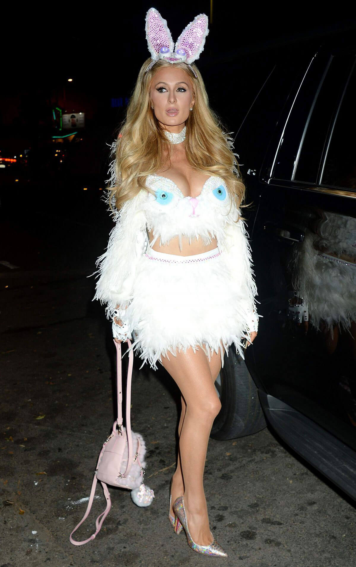 Paris Hilton wears Naughty Bunny at Treats! Magazine 7th Annual Halloween Party in Los Angeles