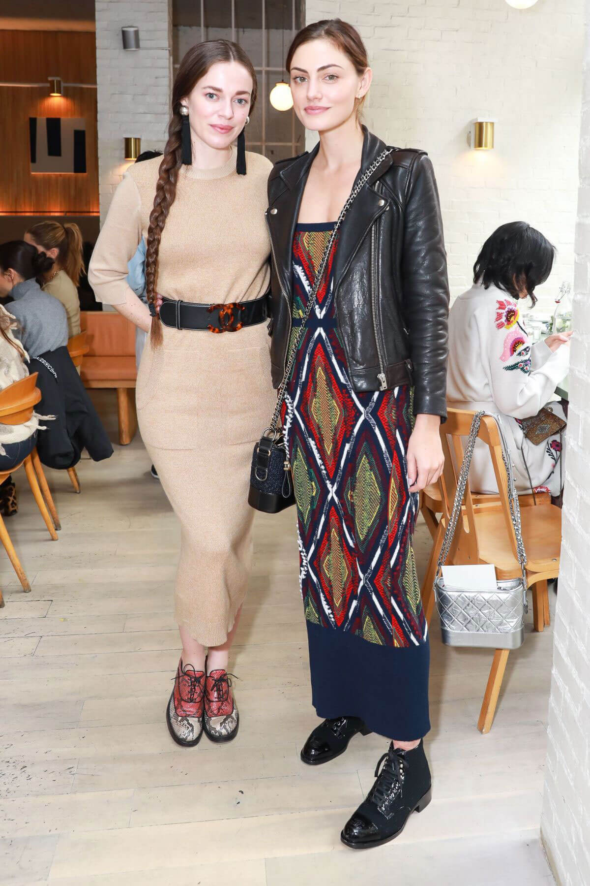 Phoebe Tonkin and Hailey Gates Stills at Barrie's Friendsgiving Lunch in New York