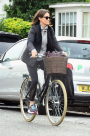 Pippa Middleton enjoys Riding a Bicycle in London Images
