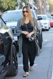 Pregnant Jessica Alba shows Baby Bump Stills Out Shopping in West Hollywood