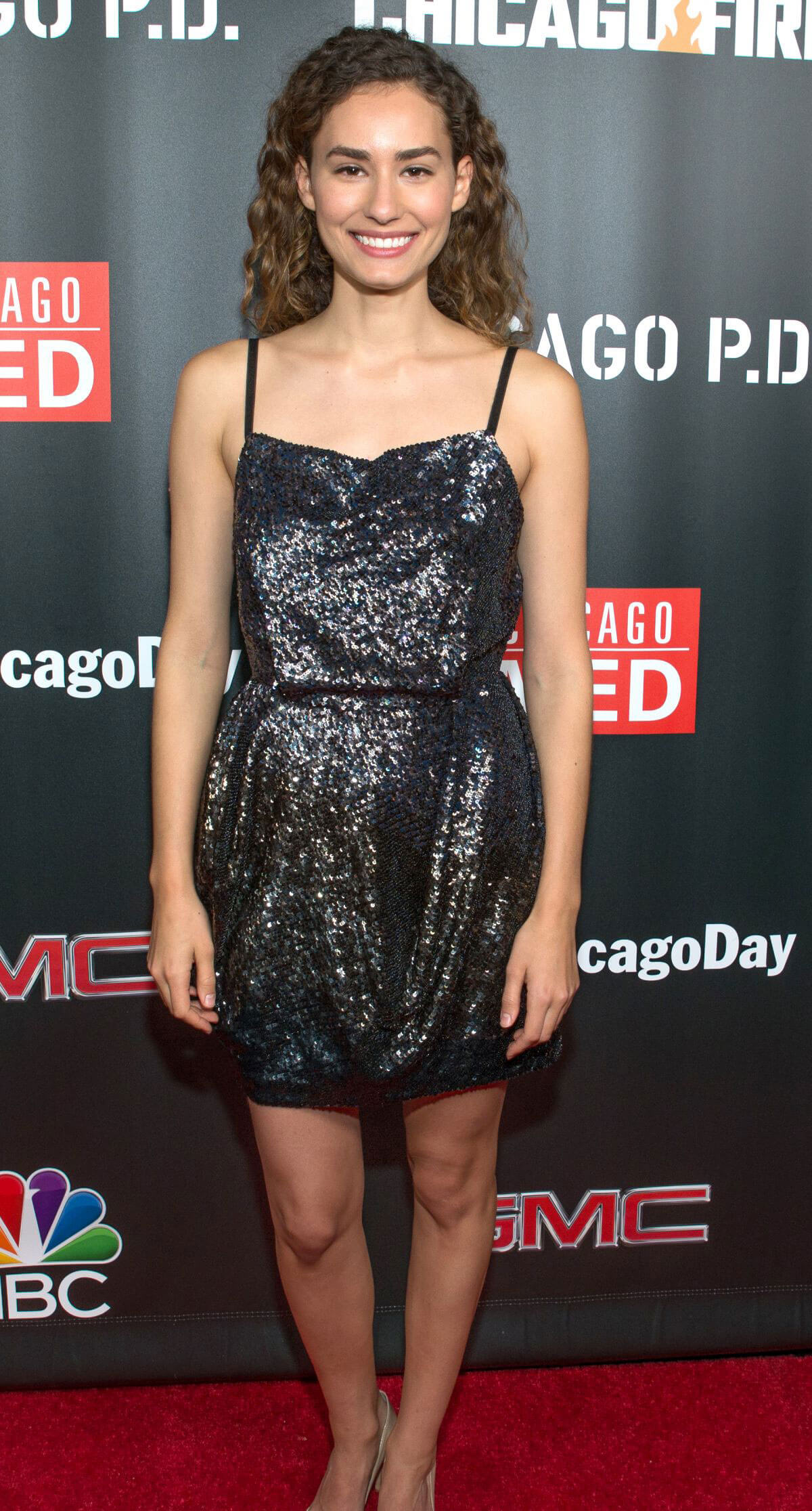 Rachel DiPillo wears Black Shining Short Dress at 3rd Annual NBC One Chicago Party in Chicago