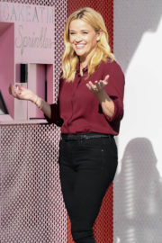 Reese Witherspoon Stills on the Set of Advertisement at Sprinkles Ice Cream in Beverly Hills