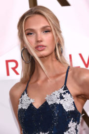 Romee Strijd shows off legs in Dress at #revolveawards in Hollywood