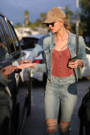 Romee Strijd Stills Out for Lunch at Zinque Cafe in West Hollywood