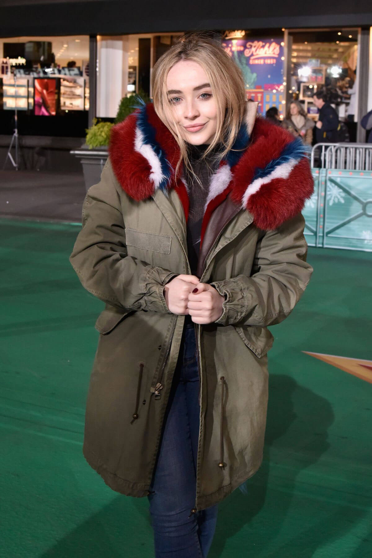 Sabrina Carpenter Stills at Macy Thanksgiving Day Parade Rehearsals in New York