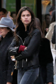 Sara Sampaio Stills Out for Lunch in New York Images