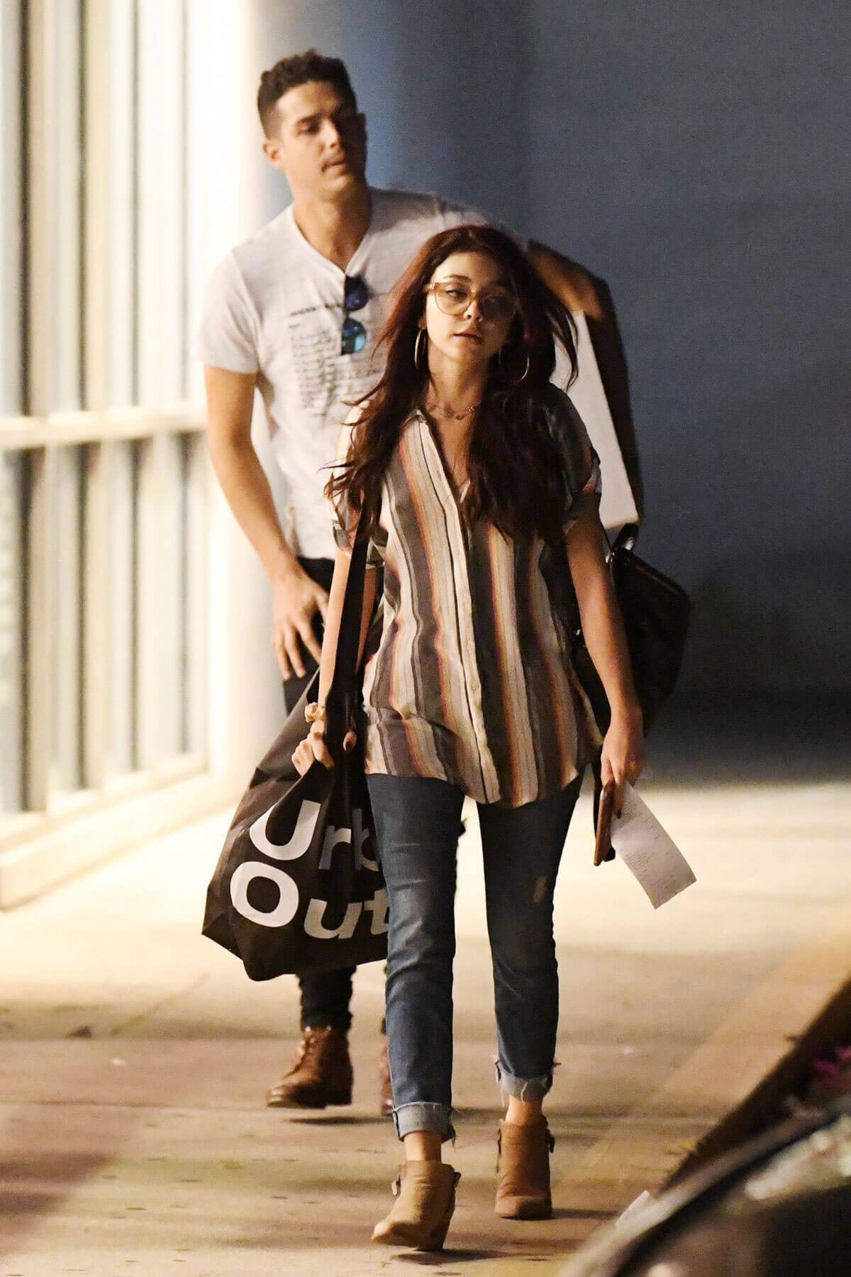 Sarah Hyland and Wells Adams Shopping at Urban Outfitters in Studio City