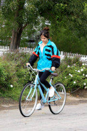 Selena Gomez Stills Out Riding A Bike in Los Angeles
