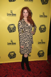 Sierra Boggess Stills at The Lion King 20th Anniversary Performance on Broadway in New York