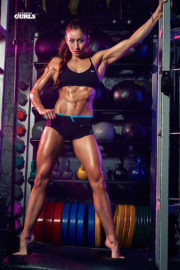 Stephanie Marie shows off abs for Fitness Gurls Magazine Photoshoot