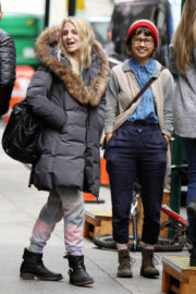 Vanessa Hudgens & Annaleigh Ashford Stills on the Set of Second Act in New York