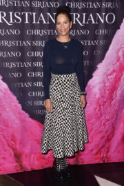 Veronica Webb wears Transparent Top at Dresses to Dream About Book Launch in New York