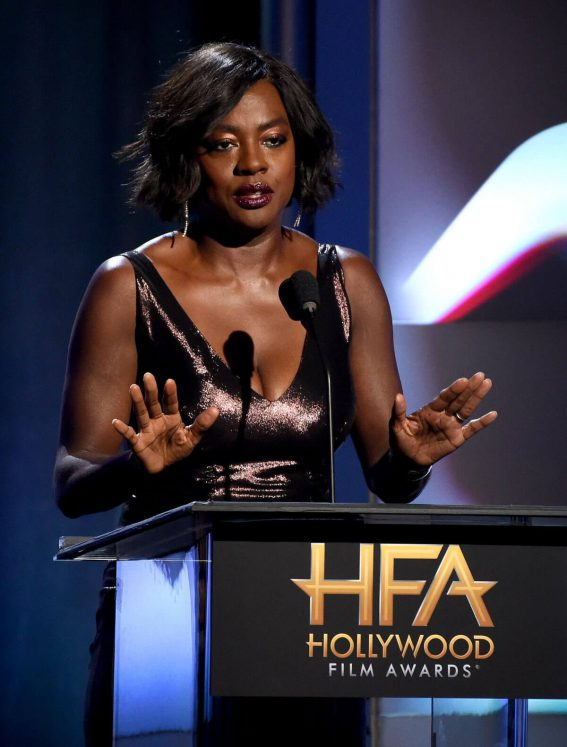 Viola Davis Stills at 2017 Hollywood Film Awards in Beverly Hills