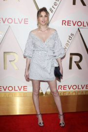 Whitney Port wears Dotted Dress at #revolveawards in Hollywood