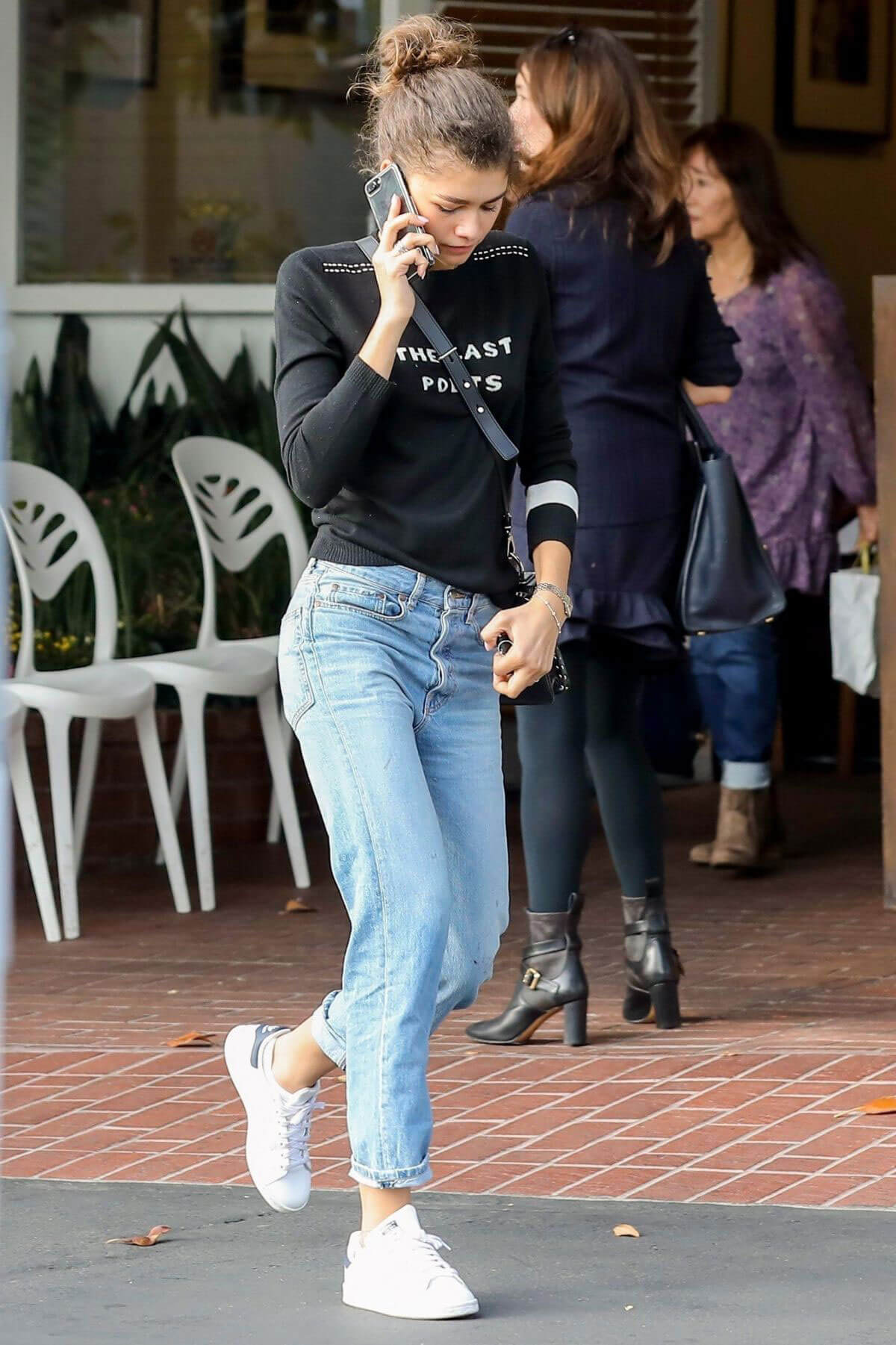 Zendaya Stills Out for Lunch at Mauro's Cafe in West Hollywood