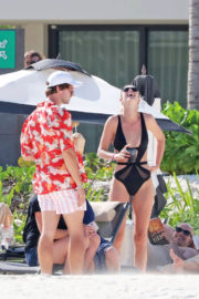 Abby Champion and Patrick Schwarzenegger Stills at a Beach in Mexico 2017/12/04