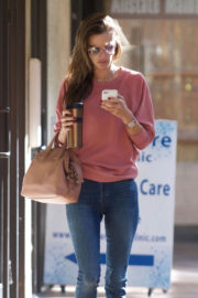 Alessandra Ambrosio Stills at a Skin Care Center in Brentwood