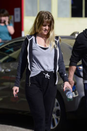 Alice Eve wears Tank Top & Lower Out and About in Los Angeles