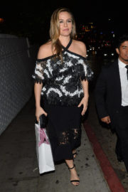 Alicia Silverstone Stills Leaves Christian Siriano Book Launch Party in Los Angeles