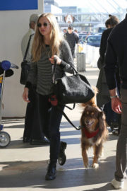Amanda Seyfried and Her Dog Stills at LAX Airport in Los Angeles 2017/11/27