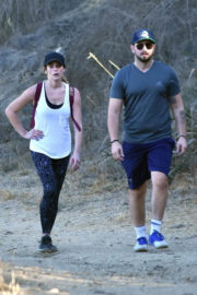 Ashley Greene and Paul Khoury Stills Out Hikking in Hollywood Hills