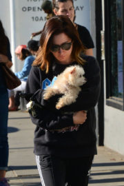 Ashley Tisdale Stills Out with Her Dog in Venice Beach 2017/12/19
