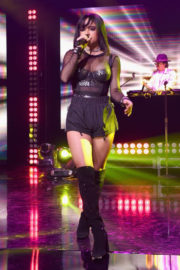 Becky G Stills Performs at Iheartradio Mi Musica with Becky G in Burbank 2017/12/14