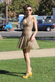 Blanca Blanco Stills on the Set of a Photoshoot at a Park in Los Angeles