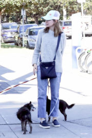 Calista Flockhart Stills Out with Her Dogs in Brentwood 2017/12/16