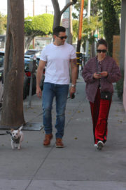 Cara Santana and Jesse Metcalfe Stills Out with Their Dogs in West Hollywood