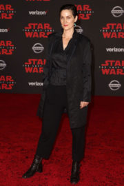 Carrie-Anne Moss Stills at Star Wars: The Last Jedi Premiere in Los Angeles 2017/12/09