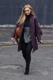 Catherine Tyldesley Stills Out and About in Manchester 2017/12/19
