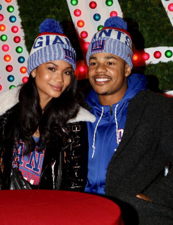 Chanel Iman and Sterling Shepard Stills at Macy's Herald Square 2017/12/12