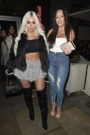 Charlotte Crosby and Holly Hagan Stills at Menagerie Bar and Restaurant in Manchester 2017/12/29