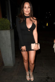 Charlotte Crosby Stills Night Out in Manchester 2017/12/26