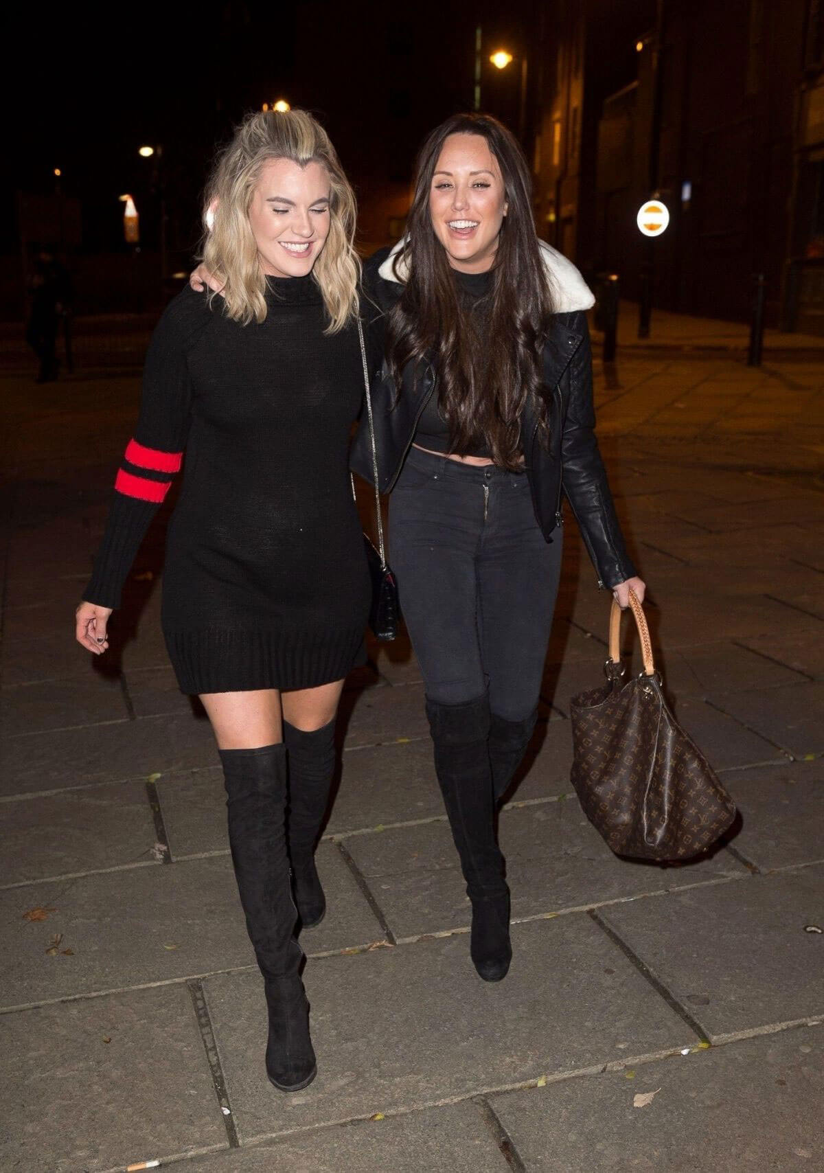 Charlotte Crosby Stills Out for Christmas Eve in Sunderland 2017/12/24