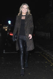 Charlotte Hawkins Stills at Piers Morgan's Christmas Party in London 2017/12/21