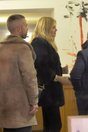 Chiara Ferragni wears Full Jacket & Tight Jeans Out and About in Rome