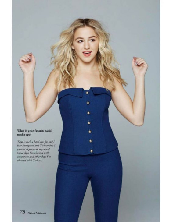 Chloe Lukasiak Stills in Nationalist Magazine, December 2017
