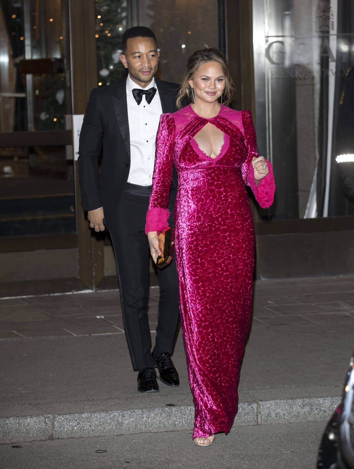 Chrissy Teigen and John Legend Stills Leaves Nobel Peace Prize Banquet in Oslo 2017/12/10