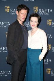 Claire Foy Stills at The Crown Bafta Screening in New York 2017/12/03