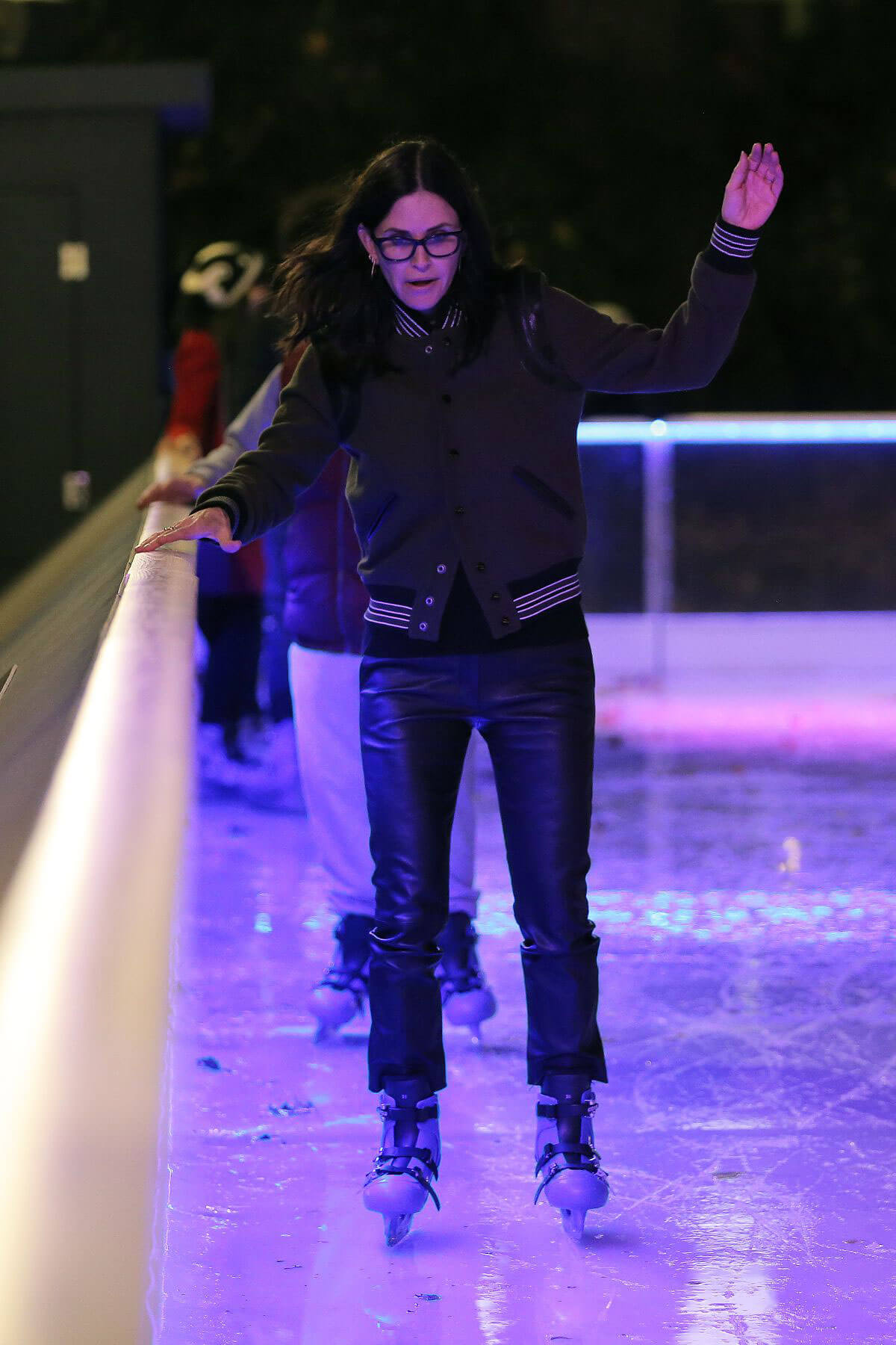 Courteney Cox Stills Ice Skating at Natural History Museum Ice Rink in London