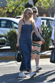 Dakota and Elle Fanning Stills Out in Los Angeles 2017/12/28
