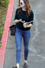 Danielle Panabaker wears Tee & Jeans Out and About in West Hollywood