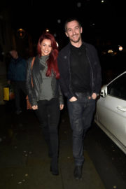 Dianne Buswell and Anthony Quinlan Stills Leaves Grand Pacific Restaurant in Manchester 2017/12/22