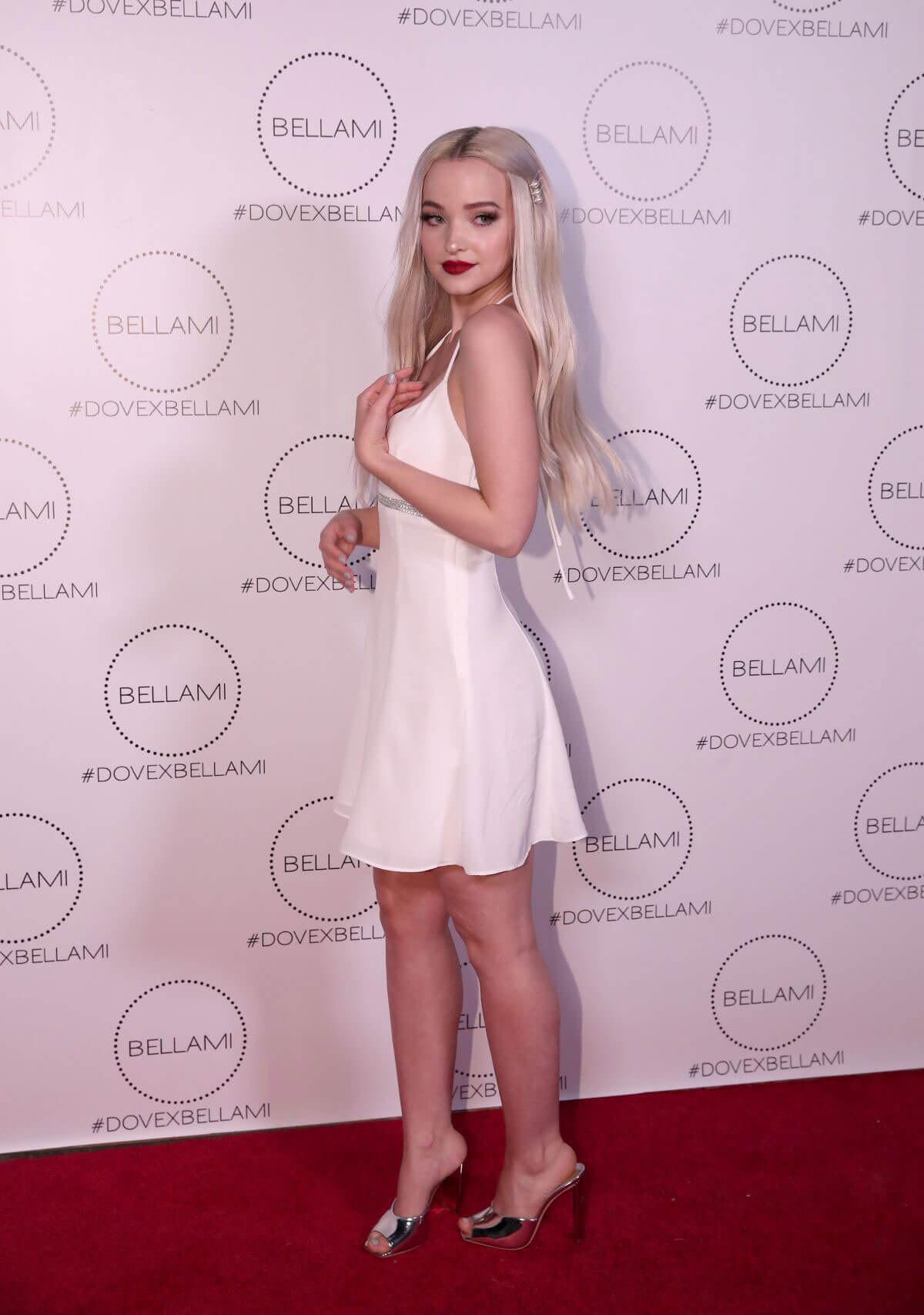 Dove Cameron Stills at Dove x Bellami Collection Launch Party in Los Angeles