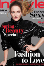 Drew Barrymore Poses for Instyle Magazine, February 2018